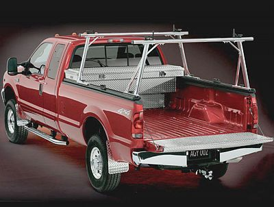 Rail Rack For Track Systems That Holds Ladder On Pickup